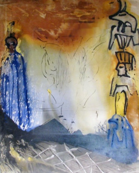 Moses And Monotheism Nightmare of Moses 1975 Limited Edition Print by Salvador Dali