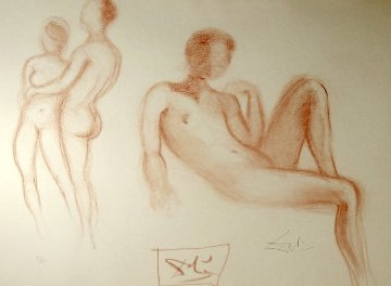 Nudes Couple Nus 1970 (Early) Limited Edition Print - Salvador Dali