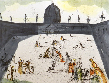 Place St-Pierre Rome 1972 Limited Edition Print by Salvador Dali