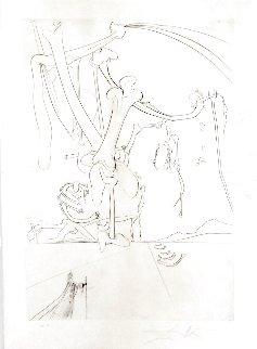 Roi, Je T'attends a Babylone Des Rois Pendus 1973 Limited Edition Print - Salvador Dali