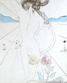 Hippies Woman With Garter 1969 (Early) Limited Edition Print by Salvador Dali
