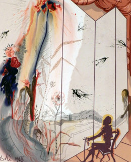 Marquis de Sade Allegory Cecile's Chastity 1969 (Early) Limited Edition Print by Salvador Dali