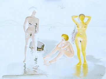 Three Graces of Cova D'or 1975 Limited Edition Print - Salvador Dali