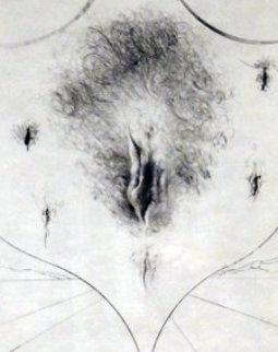 Vulva (Black) 1972 Limited Edition Print by Salvador Dali