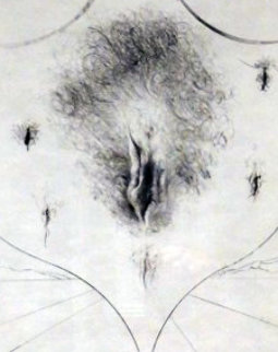 Vulva (Black) 1972 Limited Edition Print - Salvador Dali