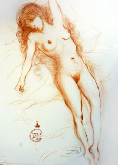 Nude With Raised Arm 1970 Limited Edition Print by Salvador Dali