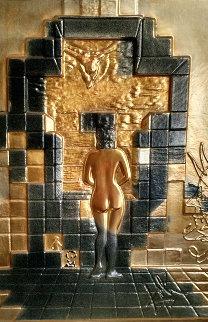 Lincoln in Dalivision Bronze Wall Sculpture 1975 Sculpture - Salvador Dali