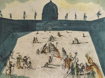 Place St Pierre De Rome 1974 Limited Edition Print by Salvador Dali