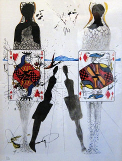 Queen's Croquet Ground (Early) 1969 Limited Edition Print - Salvador Dali