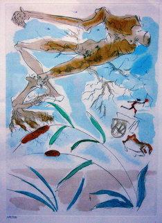 La Chene et le Roseau Limited Edition Print - Salvador Dali