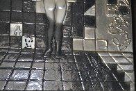 Lincoln in Dalivision Platinum Bas Relief Sculpture 1975 Sculpture by Salvador Dali - 1