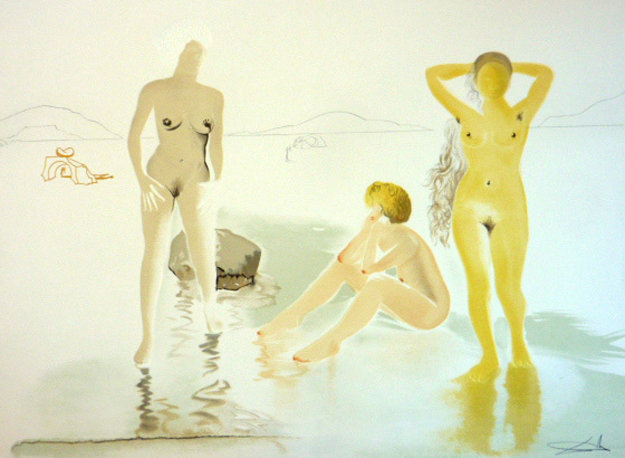 Three Graces of Cova d'Or 1975 Remarque Limited Edition Print by Salvador Dali