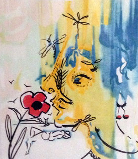 Fleurs Surrealistes Suite of 2 - Vanishing Face and Gala's Bouquet AP 1980  Limited Edition Print - Salvador Dali