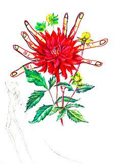 Florals Dahlia (And Fingers) Venus 1972 Limited Edition Print - Salvador Dali