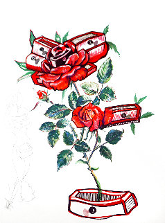 Florals Rose (Drawers) Femme Aux Tiroirs 1972 Limited Edition Print - Salvador Dali