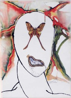 Papillon Series: Kabuki  Dancer  Limited Edition Print by Salvador Dali