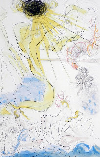 Hommage a Albrecht Durer Triomphe De Venus 1971 Limited Edition Print by Salvador Dali