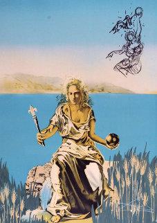 Coronation of Gala (The Empress)  Visions Surrealiste 1976 Limited Edition Print - Salvador Dali