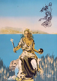 Coronation of Gala (The Empress)  Visions Surrealiste 1976 Limited Edition Print by Salvador Dali