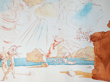 Plage De Cadaques 1967 (Early) Limited Edition Print - Salvador Dali