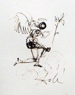 Symbols Guiding Angel 1970 (Early) Limited Edition Print by Salvador Dali