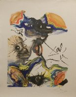 Butterfly and the Lips  1971 Limited Edition Print by Salvador Dali - 1