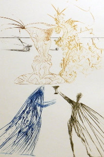 Tristan Et Iseult Frontispiece (Tristan & Iseult) 1970 Limited Edition Print by Salvador Dali