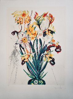 Florals Narcissus (+Phones) Andalou 1972 Limited Edition Print - Salvador Dali