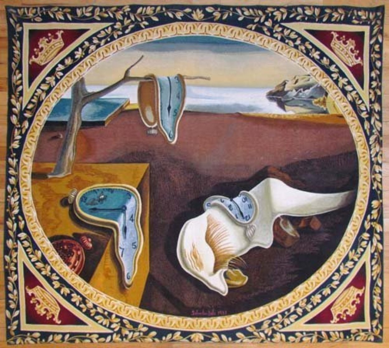 Persistence of Memory Tapestry 1975 Tapestry by Salvador Dali