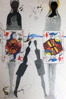Alice in Wonderland Suite: Queens Croquet Ground 1968 (Early) Limited Edition Print - Salvador Dali