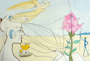Dream (La Rose) 1975 Limited Edition Print - Salvador Dali