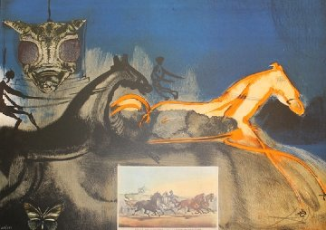 Currier and Ives : American Trotting Horses No. 2  1971  Limited Edition Print by Salvador Dali