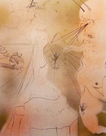 Hippies Women With Cushion 1969 (Early) Limited Edition Print by Salvador Dali