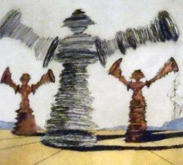 Historia De Don Quichotte De La Mancha  - The Spinning Man 1980 Limited Edition Print - Salvador Dali