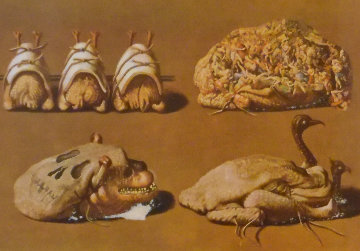 Les Diners De Gala - Les Caprices Pinces Princiers 1977 Limited Edition Print - Salvador Dali