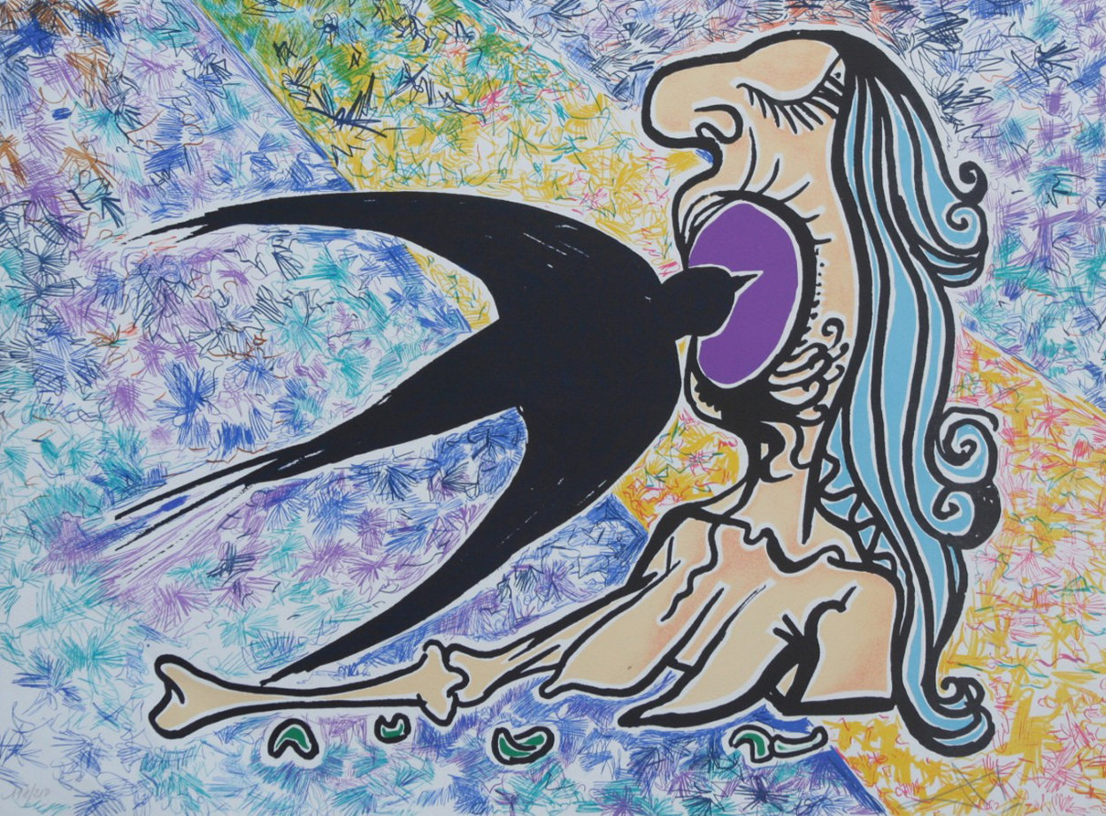 Swallow 1976 Limited Edition Print by Salvador Dali