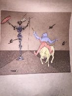 Master And Squire From Histria De Don Quichotte De La Mancha Portfolio AP 1980 Limited Edition Print by Salvador Dali - 1
