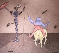 Master And Squire From Histria De Don Quichotte De La Mancha Portfolio AP 1980 Limited Edition Print by Salvador Dali - 0