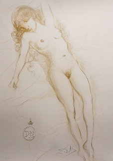 Nude With Raised Arm 1970 Limited Edition Print - Salvador Dali