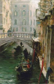 Wintertime in Venice 2006 44x32 Original Painting - Dmitri Danish