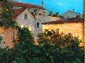 Nighttime Rooftops 1996 20x24 Original Painting - Dmitri Danish