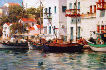 Grecian Harbor 2006 Embellished  Limited Edition Print - Dmitri Danish