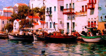 Grecian Harbor 2006 Embellished Limited Edition Print by Dmitri Danish
