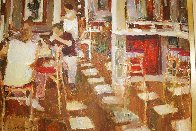 Cafe Paris 1997 26x34 Original Painting by Dan McCaw - 3