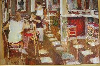 Cafe Paris 1997 26x34 Original Painting by Dan McCaw - 4
