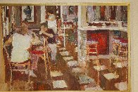 Cafe Paris 1997 26x34 Original Painting by Dan McCaw - 2