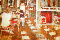 Cafe Paris 1997 26x34 Original Painting by Dan McCaw - 0