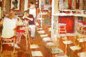 Cafe Paris 1997 26x34 Original Painting - Dan McCaw