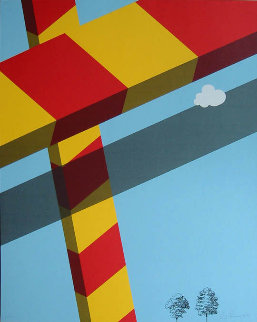 Untitled Lithograph 1968 Limited Edition Print - Allan D'Arcangelo