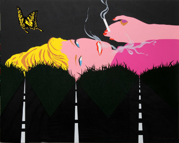 Smoking Blonde 1990 Limited Edition Print - Allan D'Arcangelo